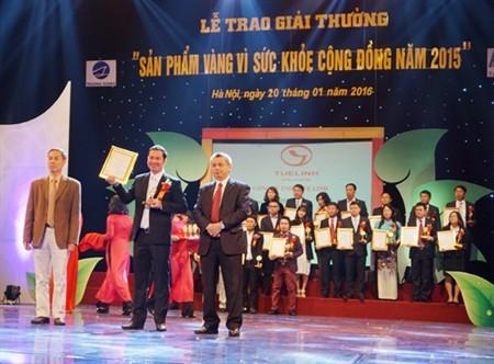 Giải độc gan Tuệ Linh đạt danh hiệu Huy chương vàng vì sức khỏe cộng đồng 2015